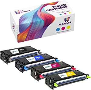 AZ Supplies Re-Manufactured Toner Cartridges Replacement for Dell 3130, 330-1194, 330-1198, 330-1200, 330-1204 for use in Dell 3130, Dell 3130CN, Dell 3130CND Series Printers (B, C, Y, M, 4-Pack).