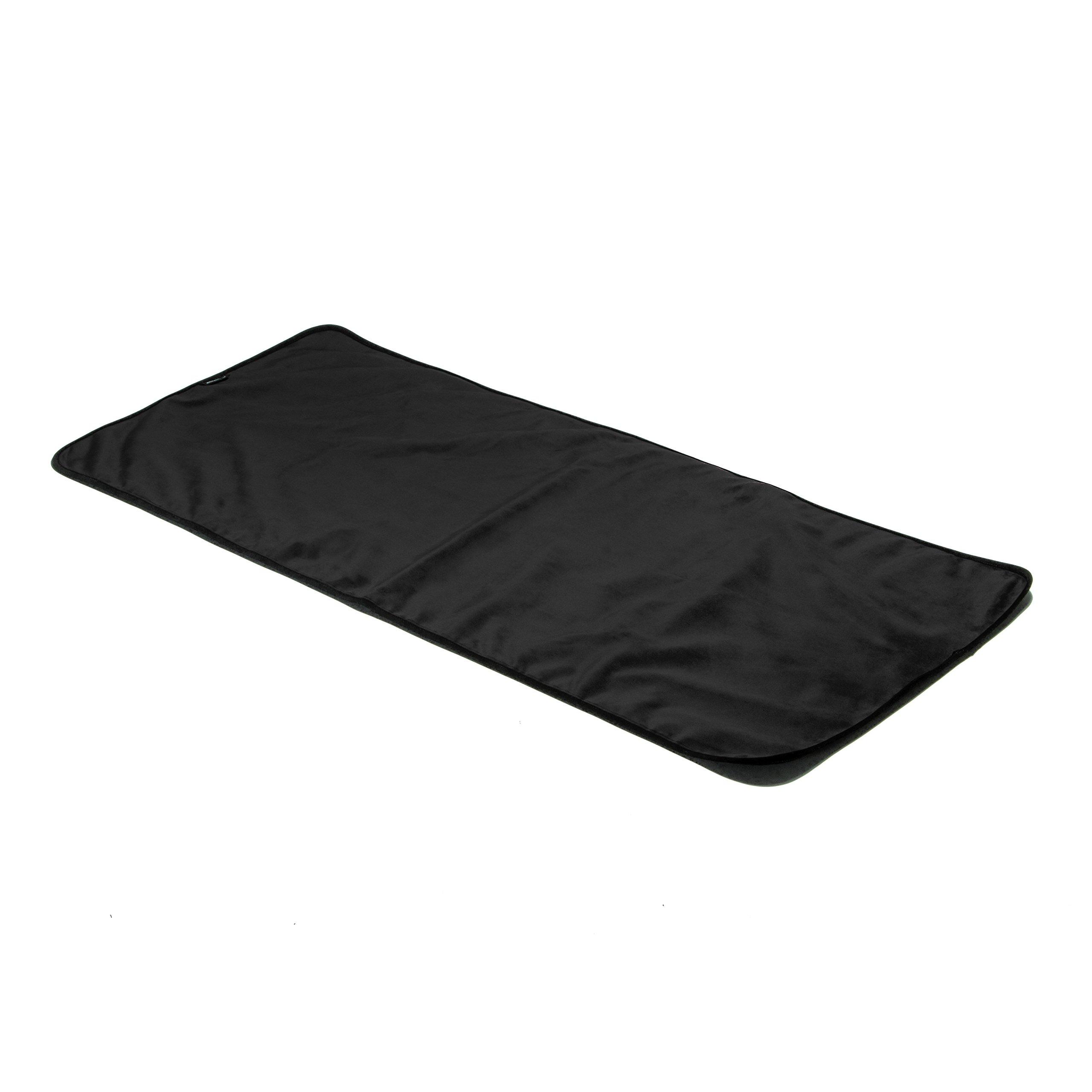 Liberator Throe Moisture Resistant Sex Blanket, Travel-Size, Black