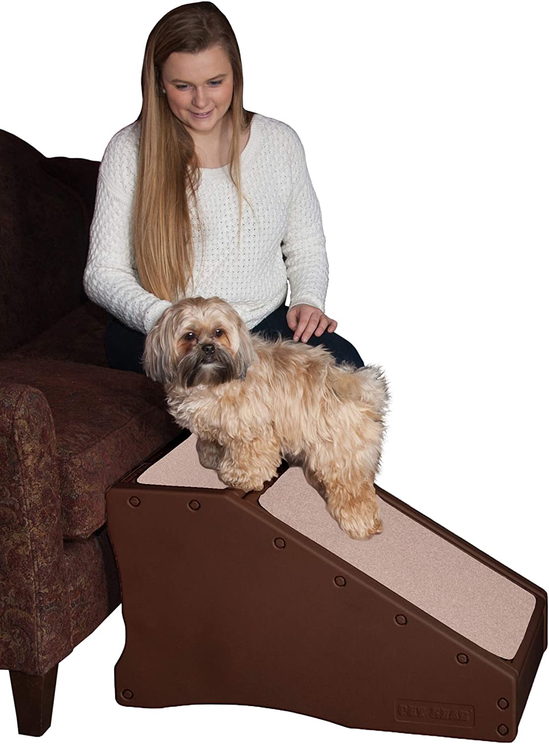 Pet Gear Stramp Stair and Ramp Combination, Dog/Cat Easy Step, Lightweight/Portable, Sturdy : Pet Ramps For Small Dogs : Pet Supplies