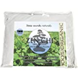 "Buckwheat Pillow- Organic Twin Size (20""X26"") w Natural Cooling Technology- All Cotton Cover w Organic Buckwheat Hulls"