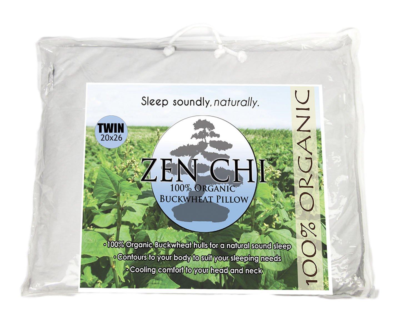 amazon com zen chi buckwheat pillow organic twin size 20 x26 w