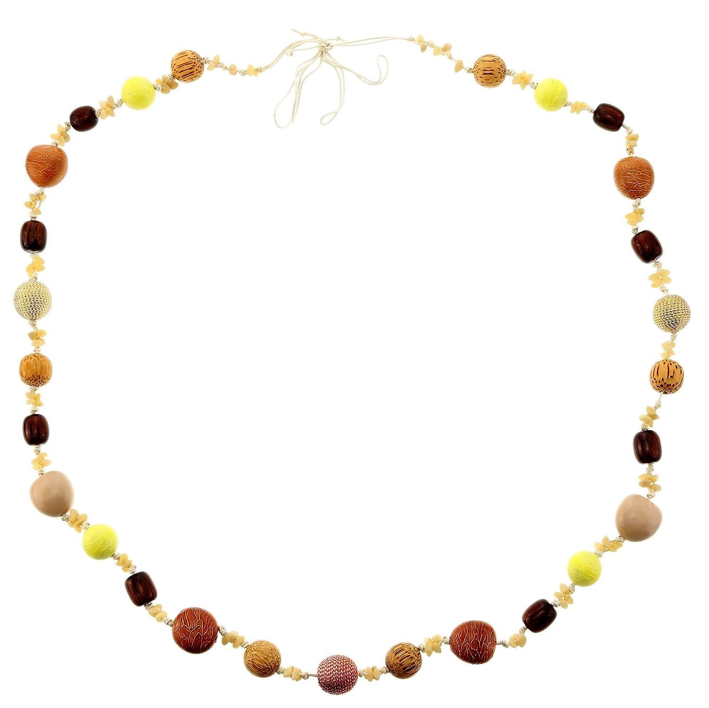 39241329a0e0 behave Collar Muy Largo para Mujer con Abalorios Grandes - Collar Largo  Abalorios - Bonitos Collares  Amazon.es  Joyería