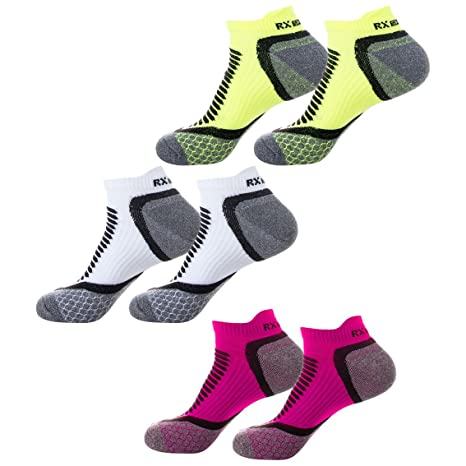 RX SPORT – Calcetines de Running para Mujer 6 Pares Paquete, Especial para Ciclismo,