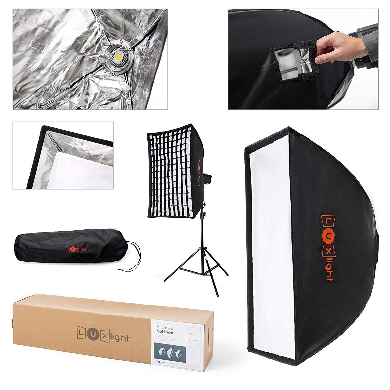 LuxLight/® Octabox Softbox Bo/îte /à lumi/ère avec Grille et Support Bowens Type S 80 cm