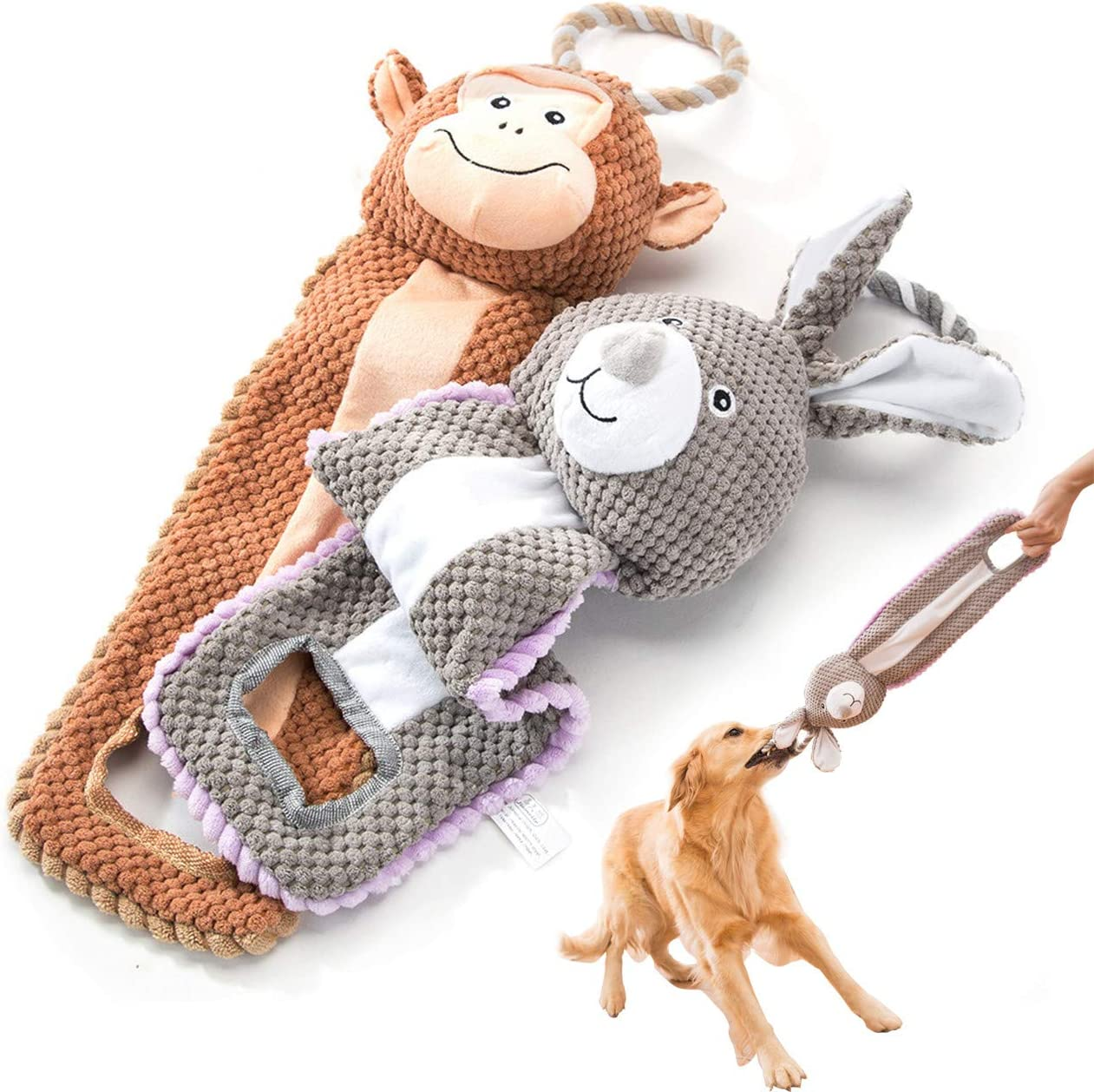 Dog Rope Toys Cute Animals Design Cotton Puppy Toys for Small Dogs Rope Dog Toy Set pack of 6