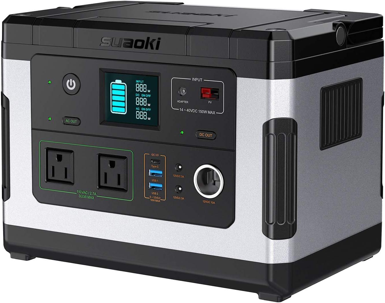 <br /> suaoki ポータブル電源 G500 137700mAh