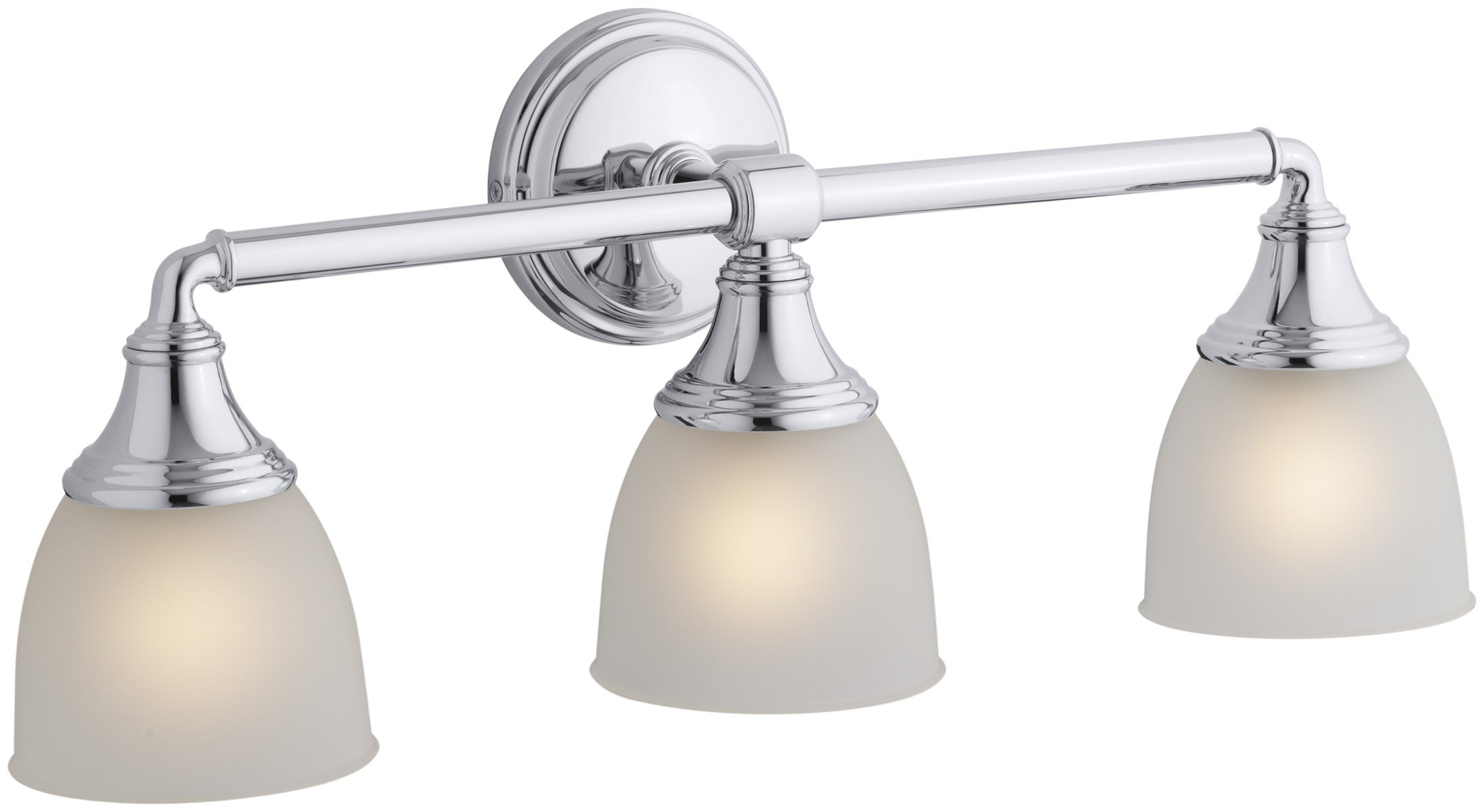 KOHLER K-10572-CP Devonshire Triple Sconce, Polished Chrome