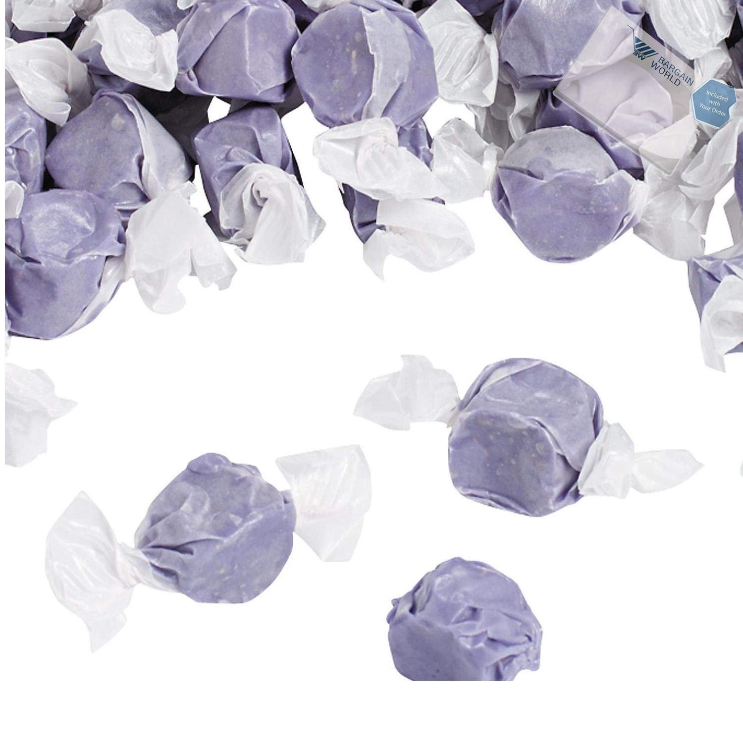 Bargain World Purple Salt Water Taffy (With Sticky Notes)