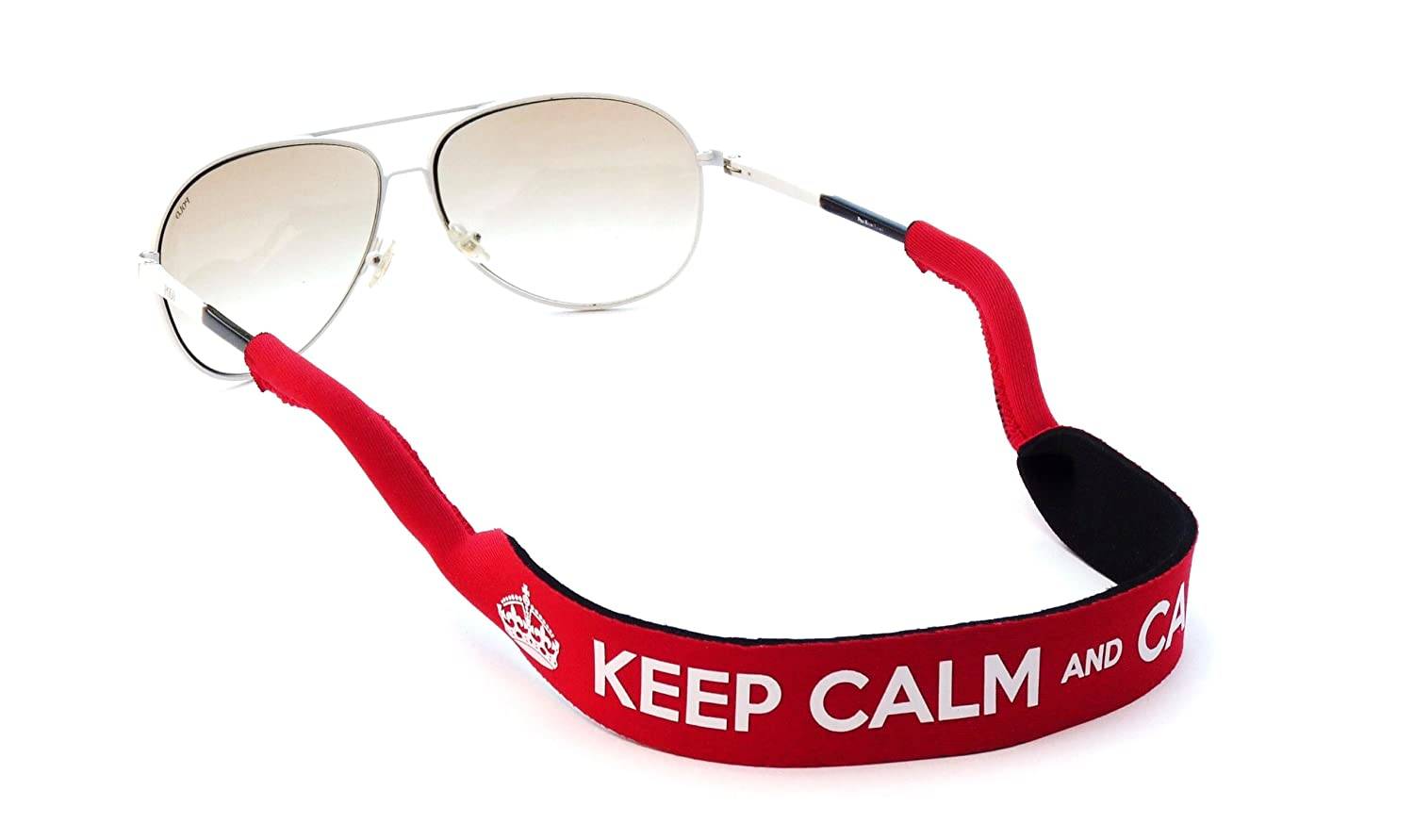 2579b211813 KEEP CALM and CARRY ON Sunglasses Glasses Spectacle Neoprene Stretchy Sports  Band Strap Cord Chain Holder  Amazon.co.uk  Sports   Outdoors