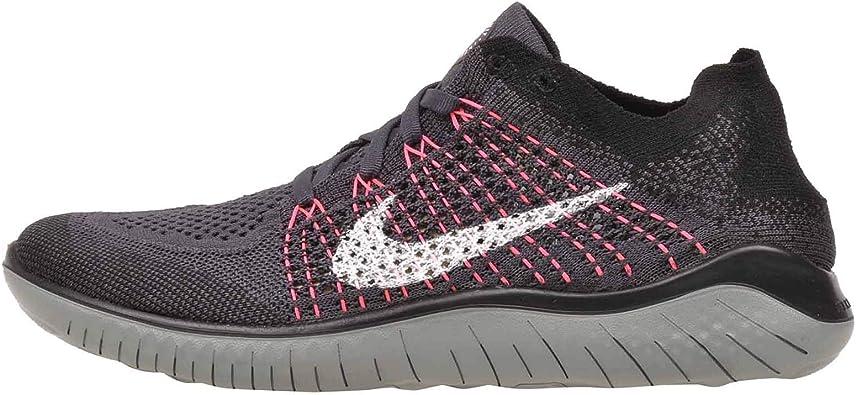 Nike Wmns Free RN Flyknit 2018, Zapatillas de Running para Mujer, Multicolor (Gridiron/White/Black/Mica Green 004), 38.5 EU: Amazon.es: Zapatos y complementos