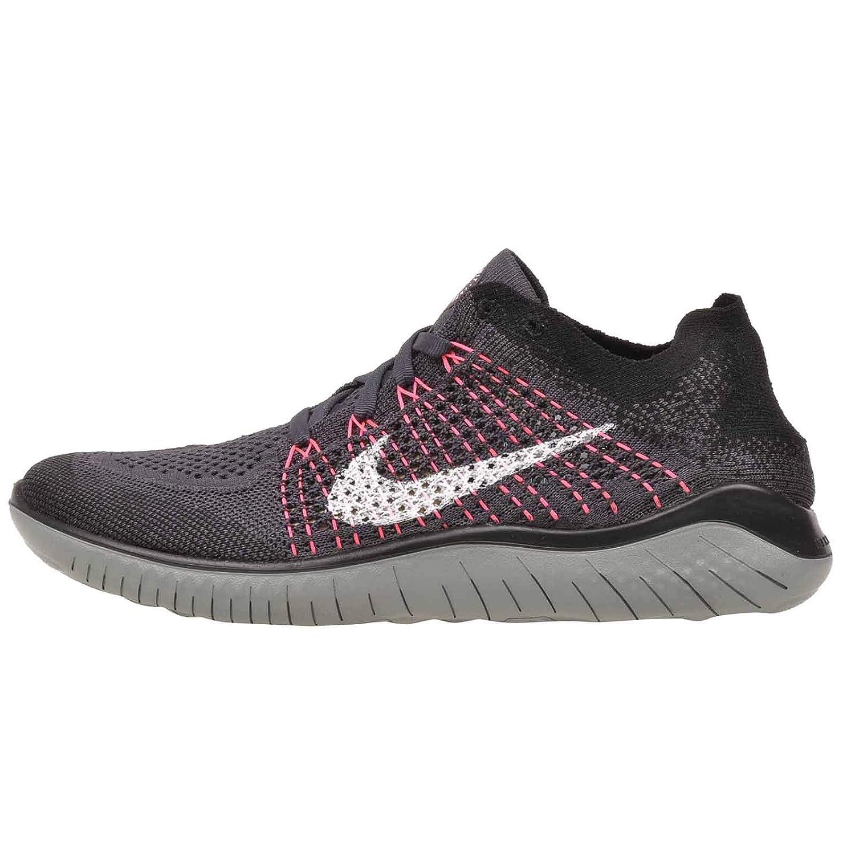 Nike WMNS Free Rn Flyknit 2018 Womens 942839-004, Gridiron White-black, Size 7.5