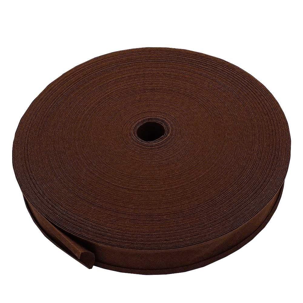 25mm Bias Binding Tape Trim 100% Cotton - Mid Brown - 10m The Bead Shop