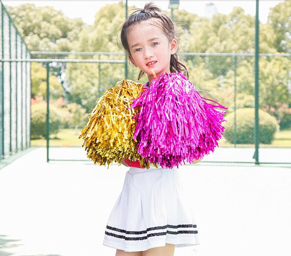 2PCS 30cm//11.8 Cheerleading Cheerleader Ring Pom Poms Sports Party Accessories Dance Ball Party Sports Pompoms Cheer Pom for Colleage Team Spirit Corporate Events Blue