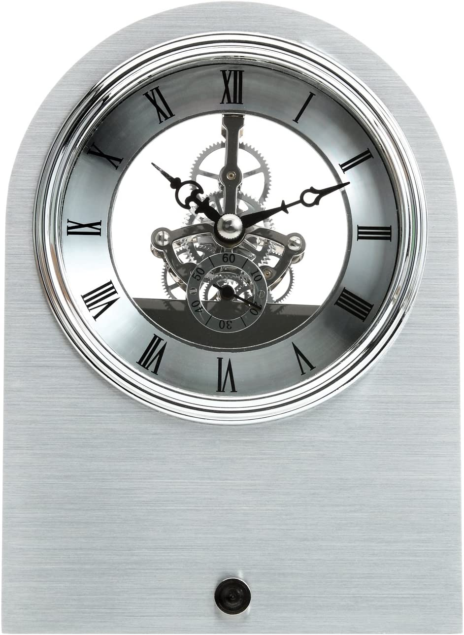 Maple s Skeleton Aluminum Table Clock
