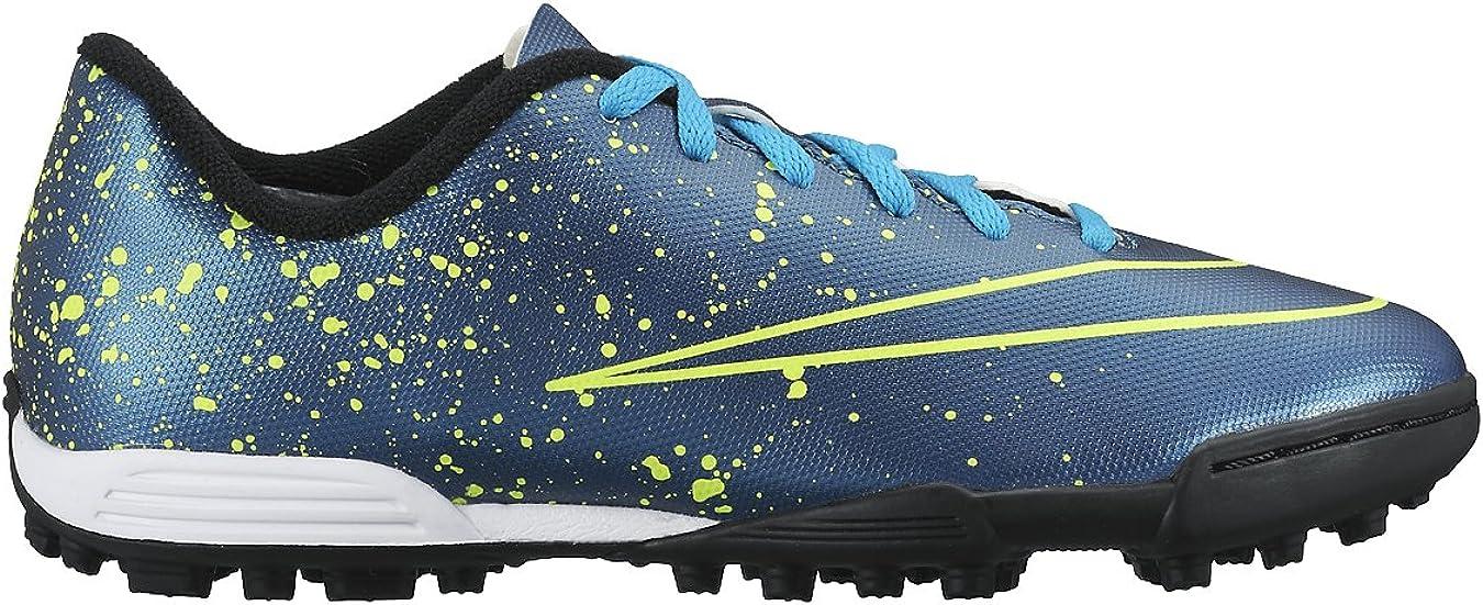 Asco callejón Mascotas  Nike Jr Mercurial Vortex II TF, Girl's Sneakers, Blue / Black / Green  (Squadron Blue / Sqdrn Bl-Blk-VLT), 4.5 UK (37.5 EU): Amazon.co.uk: Shoes &  Bags