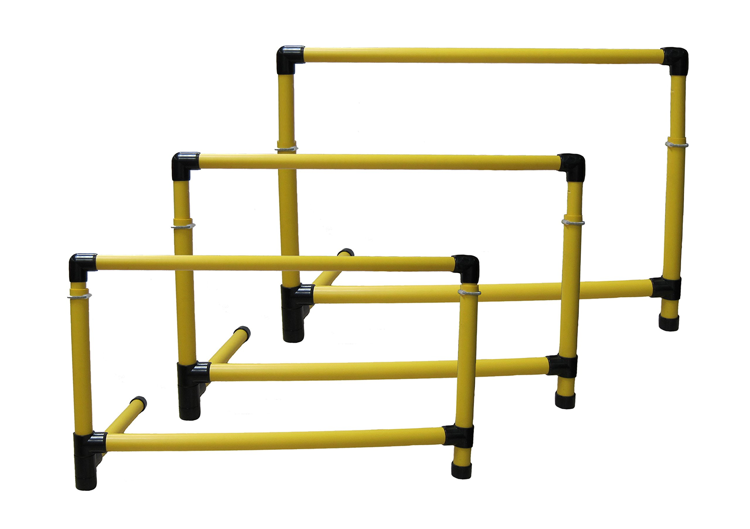 Sportime Adjust-A-Hurdles, 21 to 36 Inches, Set of 3