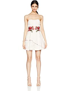 0e820ac66 Amazon.com: Speechless Women's Lace with Chiffon High-Low Strapless ...