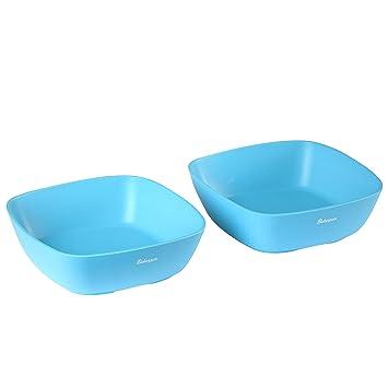 Set of 4 Bakerpan Silicone Toddler Square Feeding Bowl Multi