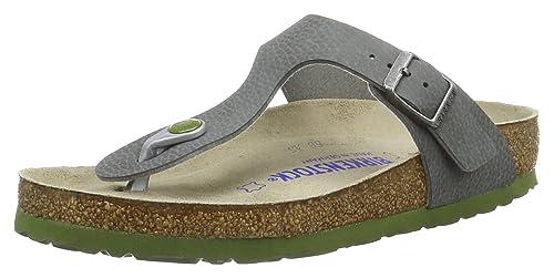 c8934b14295 Birkenstock Unisex Adults  Gizeh Birko-flor Softfootbed Mules Grey Size   7.5 UK (