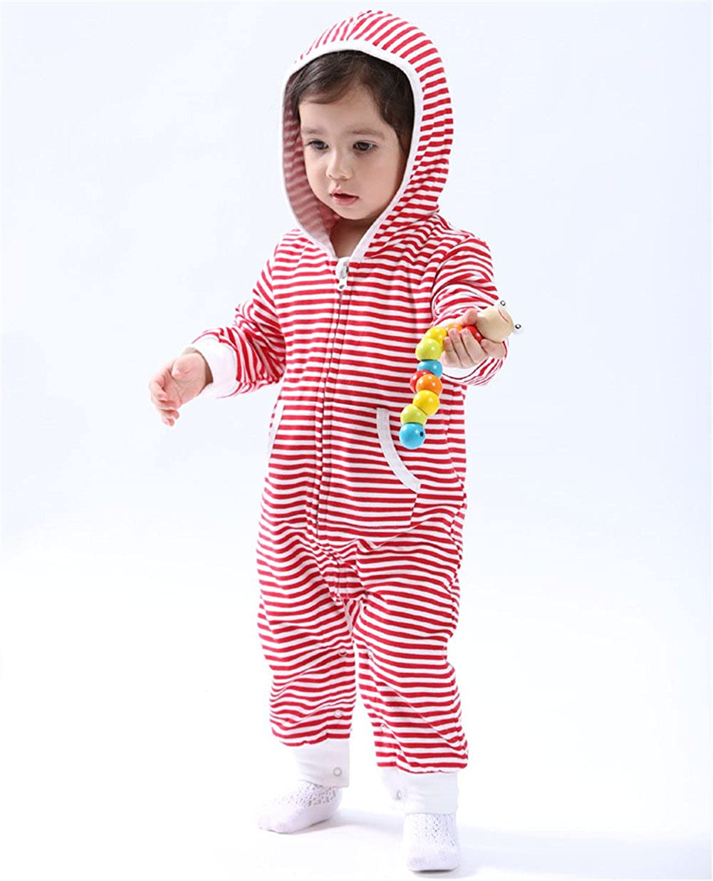 Auro Mesa Spring 2019 Cute Baby Valentines Day Outfit Girls Hooded Romper