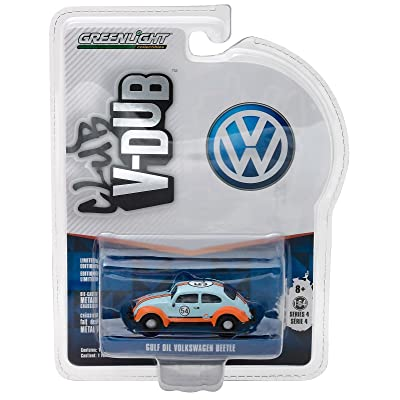 Greenlight New 1:64 Club V-Dub Series 4 Assortment - Multi Classic Volkswagen Beetle - Gulf Oil Racer Diecast Model Car: Toys & Games