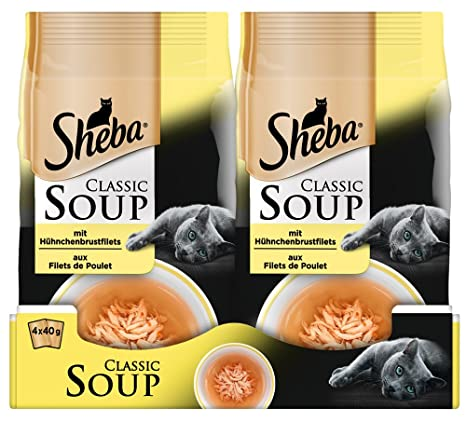 Comida para Gato Classic Soups, de la Marca SEBA. 12 Paquetes (12 x