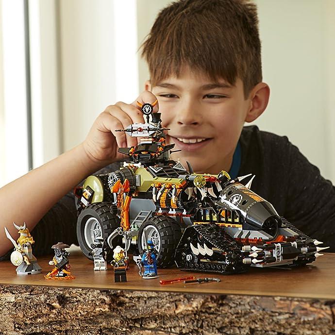 LEGO 乐高 NINJAGO 幻影忍者系列 70654 重型捕龙卡车 积木玩具 7折$76.99史低 海淘转运到手约¥657