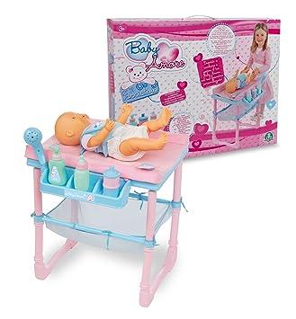 Giochi Preziosi 70193521 Baby Amore - Mesa/cambiador de pañales (con accesorios, 60