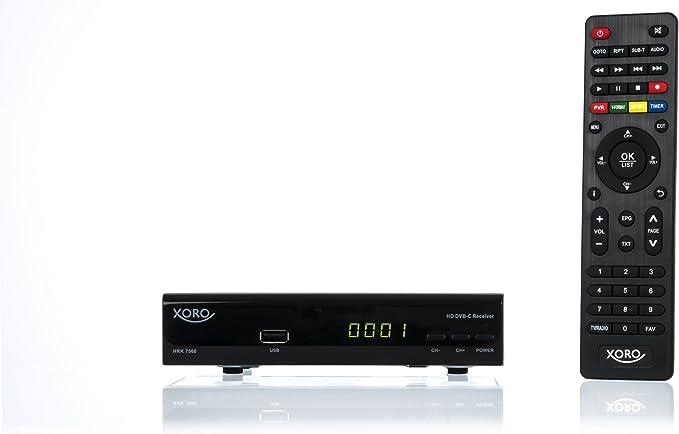 XORO HRK 7560 - Receptor de TV por cable (DVB-C, HDTV, HDMI), negro: Amazon.es: Electrónica