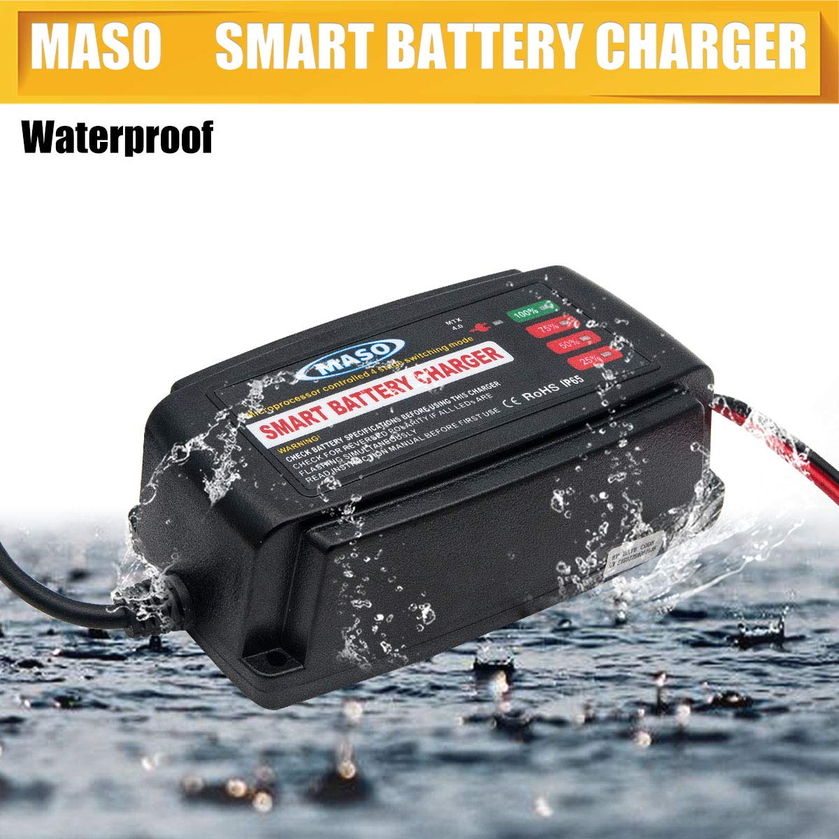 Battery Charging Units Maso 12v 5a Car Smart Charger 12v5a Automotive With Polarity Output Short Circuit Conditioner Lead Acid Motorcycle Boat