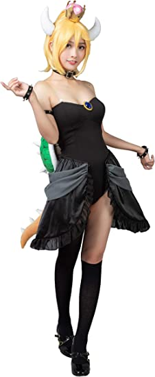 CosFantasy - Disfraz de Princesa Bowser para Cosplay, Juego ...