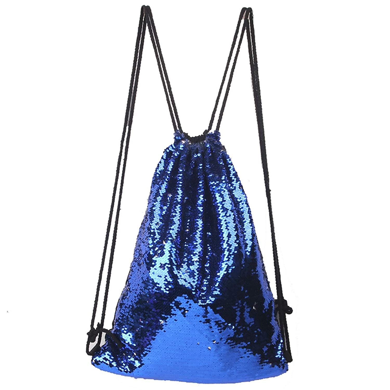 Fast Green//Black FHQHTH Glittering Shoulder Bags Mermaid Bag Sequin Drawstring Backpack Dancing Bag Magic Tote