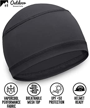 UPF 50 Wowu Cooling Skull Cap//Helmet Liner for Men Sweat Wicking Motorcycle /& Football Under Hard Hat Liner