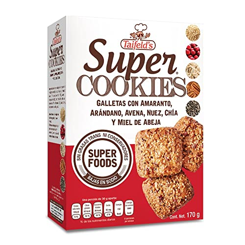 Taifelds Super Healthy Cookies with Sweetened Honey Walnuts, Amaranth, Oats, Cranberries & Chia