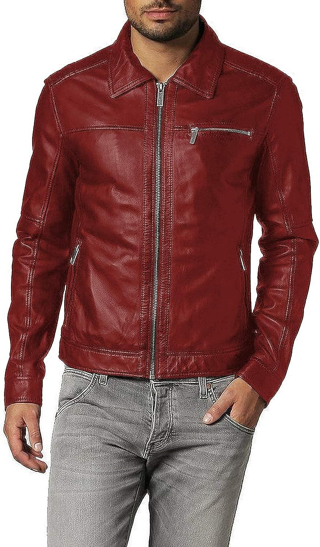 1501093 Laverapelle Mens Genuine Lambskin Leather Jacket Black, Aviator Jacket