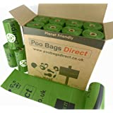 Biodegradable 240 Dog Poop Bags 16 Rolls with 15 Poo Bags Per Roll | Eco-friendly Dog Waste Bags | Value for Money Pack | Bulk Dog Poop Bags | High Quality Oxo Biodegradable Dog Poop Bags From PooBagsDirect
