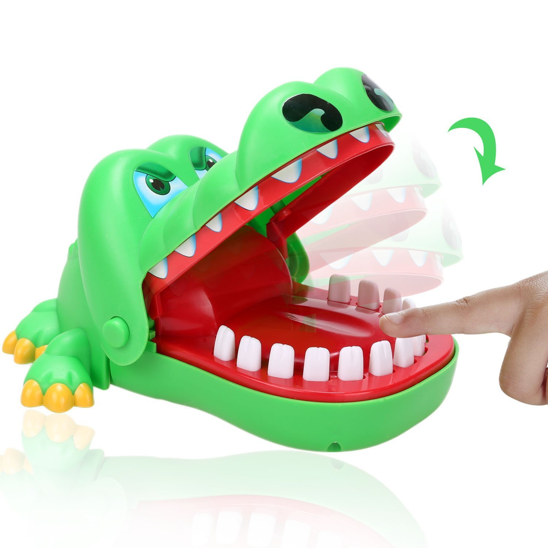 Dtemple Novelty Crocodile Toys Crocodile Dentist Game Kids Children Finger Bite Toys