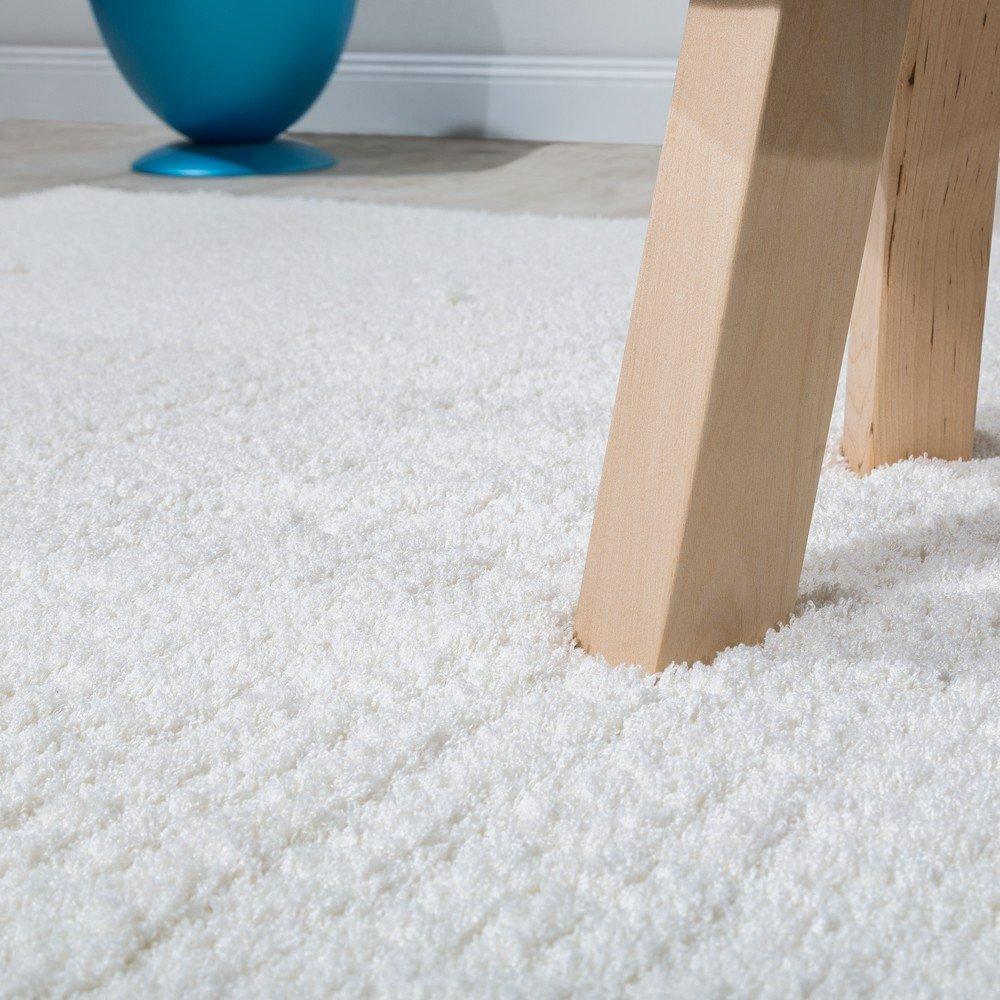 Paco Home Shaggy Teppich Micro Polyester Wohnzimmer Elegant Strapazierfähig Strapazierfähig Strapazierfähig Hochflor Creme, Grösse 140x200 cm d11a84