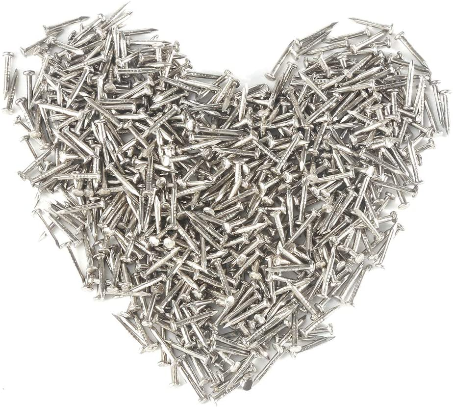 Hardware Small Nails for Wooden Nail Tiny Antique DIY Decorative Boxes Accessories Mini Nail Screw Upholstery Nail Wood Decorative Tack Stud for Home Furniture Decor Silver 110/500PCS