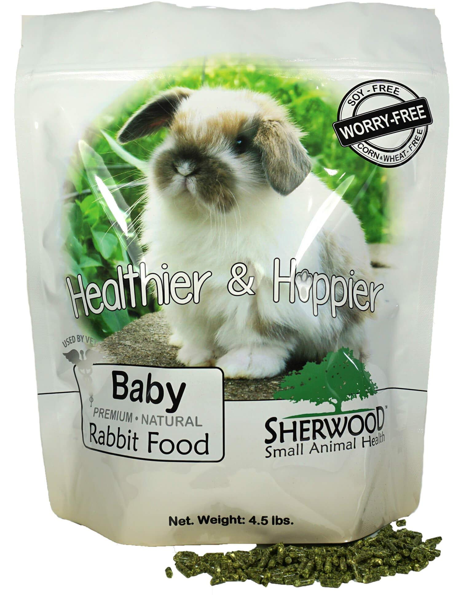 Sherwood Pet Health Rabbit Food, Baby, 4.5 lb. - (Soy, Corn & Wheat-Free) - (Vets Use)
