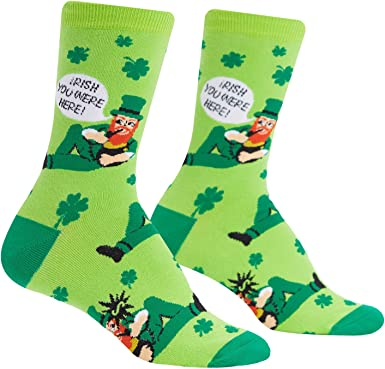Luck of the Irish Mens SOCKS Good Lucky Charm Christmas Birthday Present GIFT