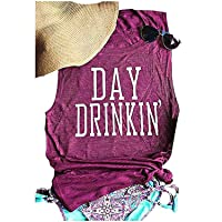 Women's Summer Day Drinkin' Casual Round-Neck Tank Tops Loose Casual Sleeveless...