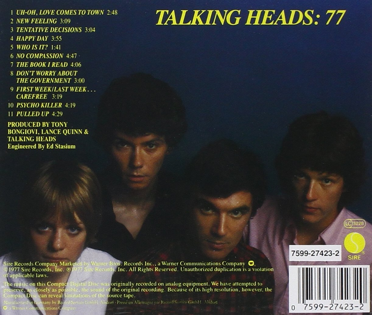 Talking Heads 1977