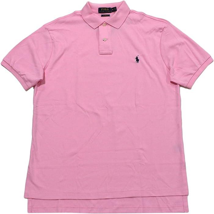 65af0504 Polo Ralph Lauren Mens Custom Fit Interlock Polo Shirt (Large, Carmel Pink)  at Amazon Men's Clothing store: