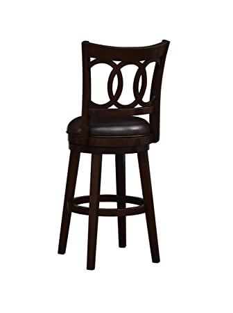 Fantastic Stylistics Elaine Swivel Barstool 21 X 23 X 46 Dark Brown Ibusinesslaw Wood Chair Design Ideas Ibusinesslaworg