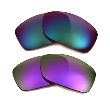 32c1dafbda Best SEEK Polarized Replacement Lenses for Oakley FUEL CELL Purple Jade  Green  Amazon.co.uk  Clothing