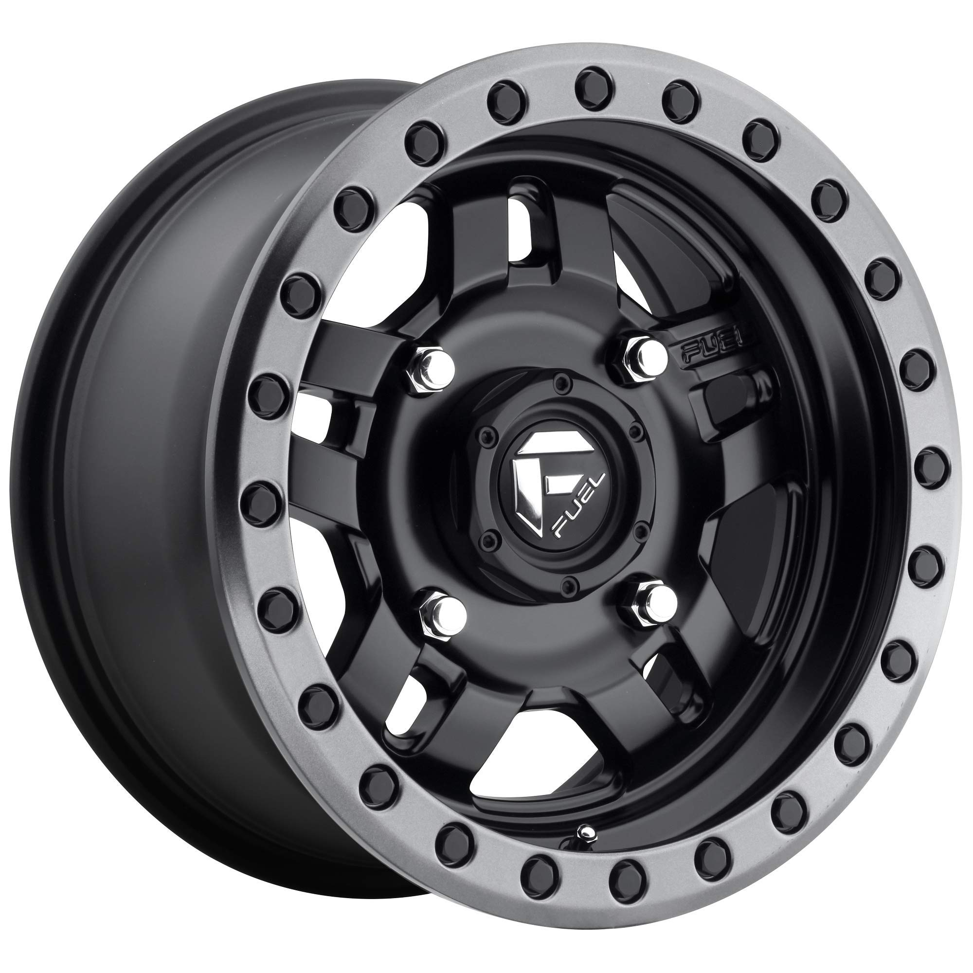 Fuel Offroad D557 ANZA BLACK Wheel with Painted and tpms (17 x 8.5 inches /5 x 127 mm, 6 mm Offset)