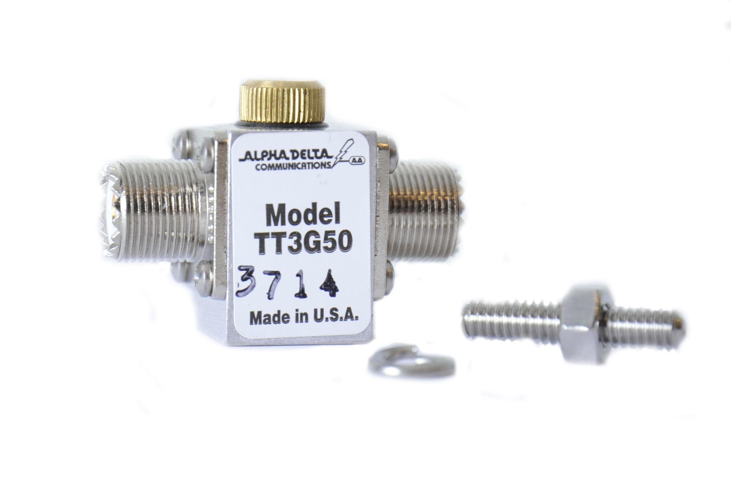 ATT3G50UHP SO239, F/F, 50Ohms, 500Mhz, 2kW