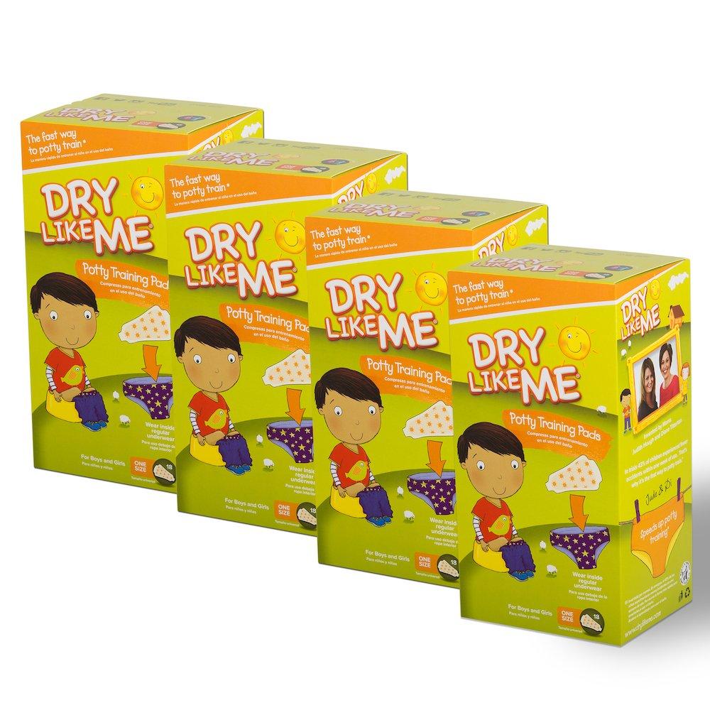 DRY LIKE ME Original Toilet Training Pads. 18 x 4 pack (Total 72 pads) Dry Like Me Ltd