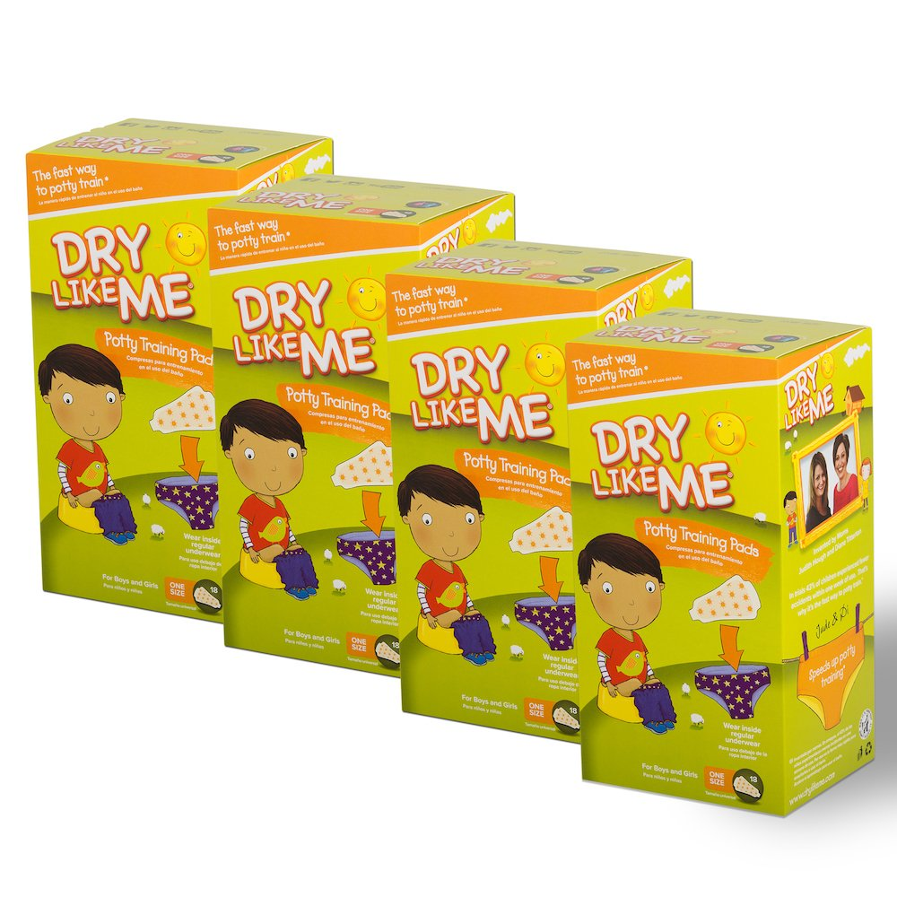 DRY LIKE ME Original Toilet Training Pads. 18 x 4 pack (Total 72 pads)